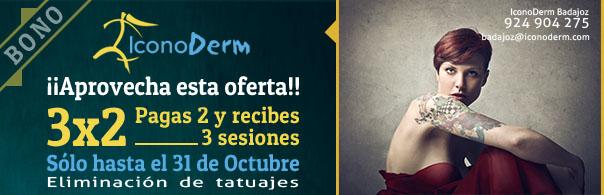Haz tres sesiones de borrado láser y paga dos en IconoDerm Badajoz